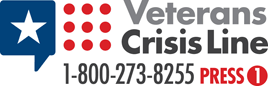 Veterans Crisis Line \\ 1-800-273-8225, press 1